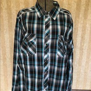Pop Icon Clothing plaid shirt.